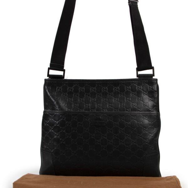 Gucci Black Guccissima Messenger Bag