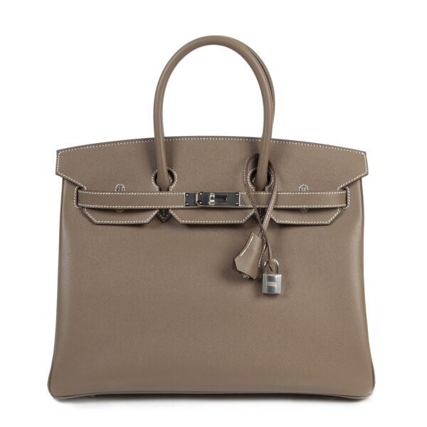 Brand New Hermès Birkin Etoupe for the best price at Labellov