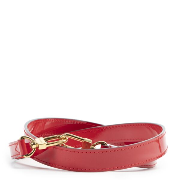 Louis Vuitton Red Patent Shoulder Strap for the best price at Labellov