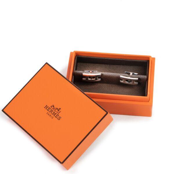 Hermès Silver Paralelle Cufflinks