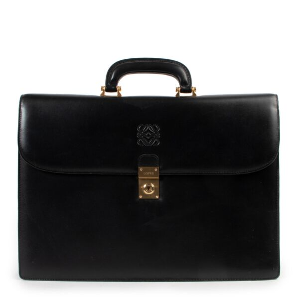 Loewe Black Leather Briefcase for the best price