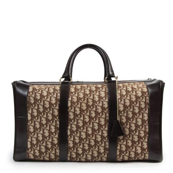 Authentieke Tweedehands Christian Dior Monogram Large Boston Travel Bag juiste prijs veilig online shoppen luxe merken webshop winkelen Antwerpen België mode fashion