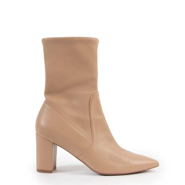 Stuart Weitzman Beige Ankle Boots - Size 37,5