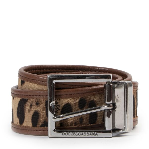 Dolce & Gabbana Leopard Combi Belt for the best price at Labellov secondhand