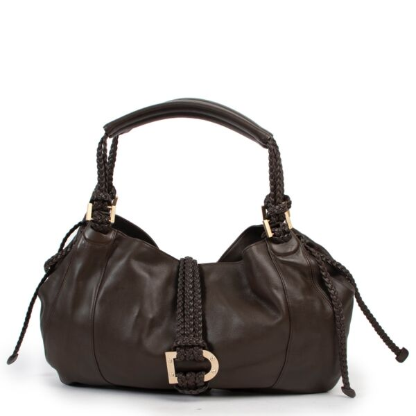Delvaux Brown Eugène Shoulder Bag now available at Labellov online or in store