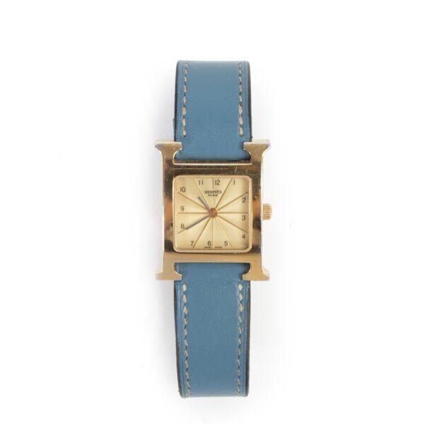 Hermès Heure H Blue Jean GHW