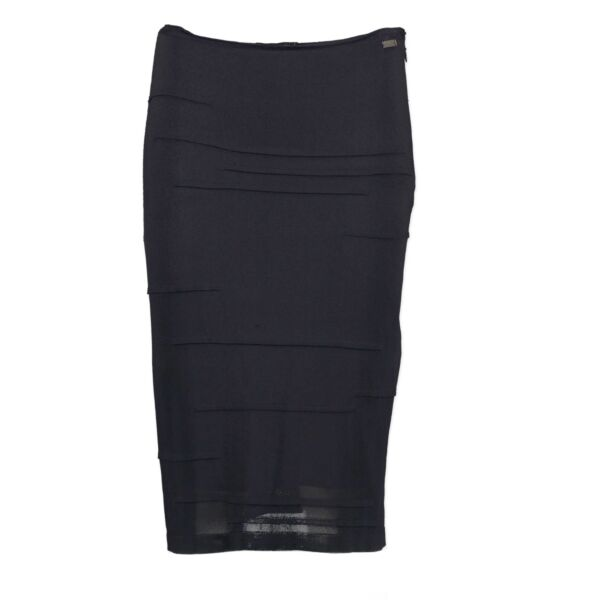 Buy and sell your authentic Chanel Blue Pencil Skirt - Size 36