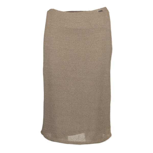 Are you looking for an authentic Chanel Beige Pencil Skirt? We buy and sell your designer items