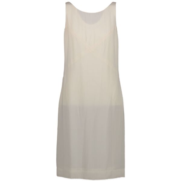 Buy and sell your authentic Chanel White Silk Dress for the best price