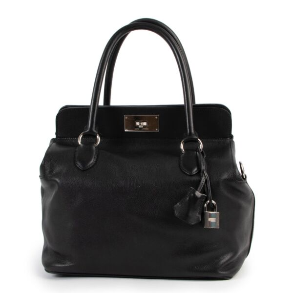 Shop and sell second hand 100% authentic Hermès Black Evercolor Toolbox 26 Bag at Labellov
