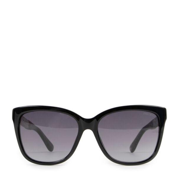 Jimmy Choo Black Cora/S Glitter Sunglasses