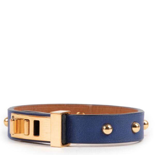 Hermès Mini Dog Clous Ronds Leather Bracelet