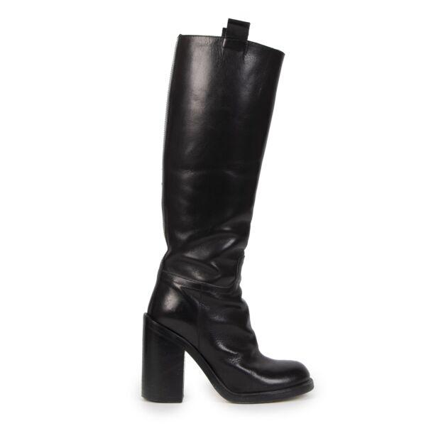AF Van De Vorst Riding Inspired Boots Black for the best price at Labellov secondhand luxury