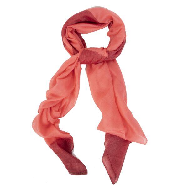 Hermès Orange Cashmere Wrap Scarf