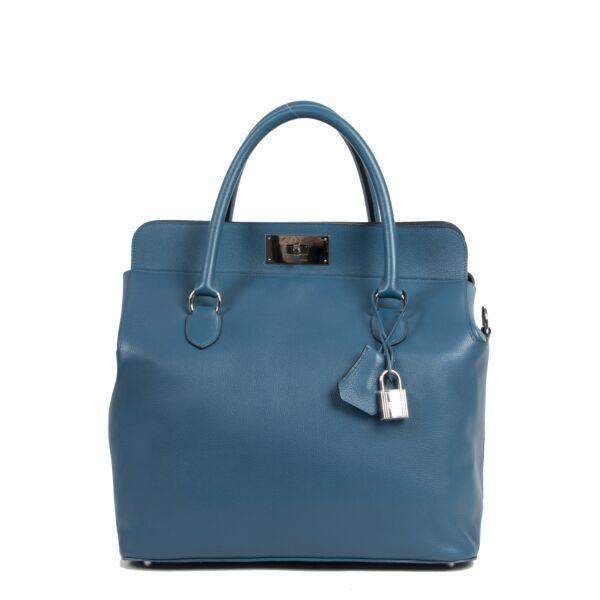 Hermès Toolbox Toolbox 33 Veau Evercolor Bleu De Galice
