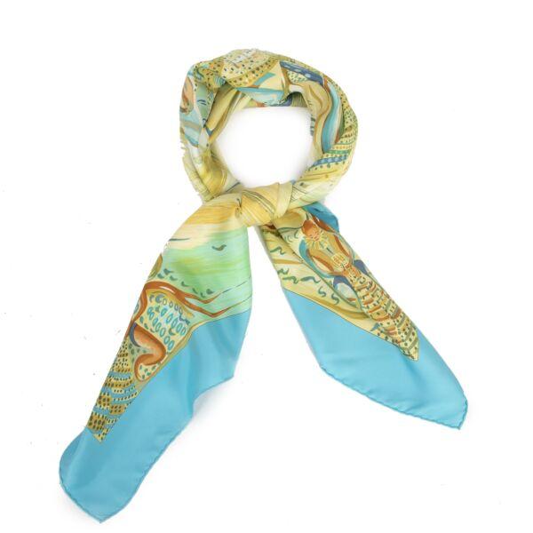 Authentic second-hand vintage Hermès Carré Les Perles De Turkana Scarf buy online webshop LabelLOV