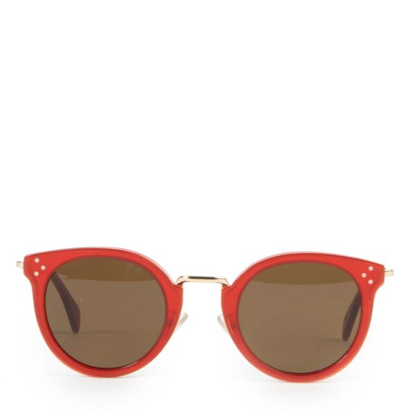 Buy authentic second hand Céline sunglasses in red.