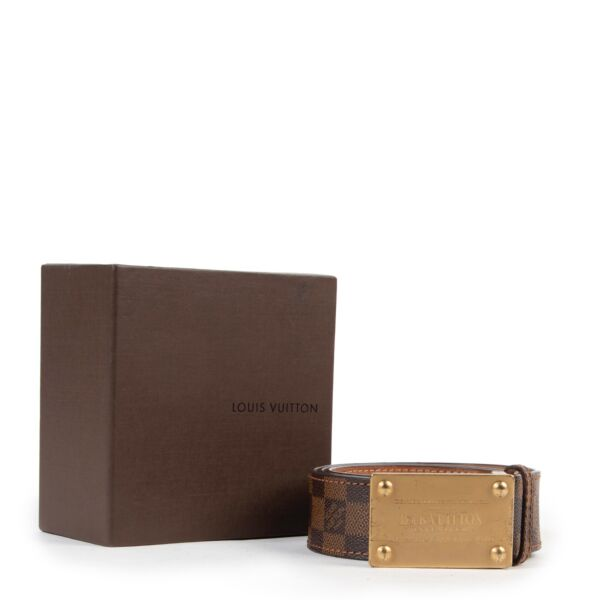 Louis Vuitton Monogram Damier Ebene Belt - Size 90