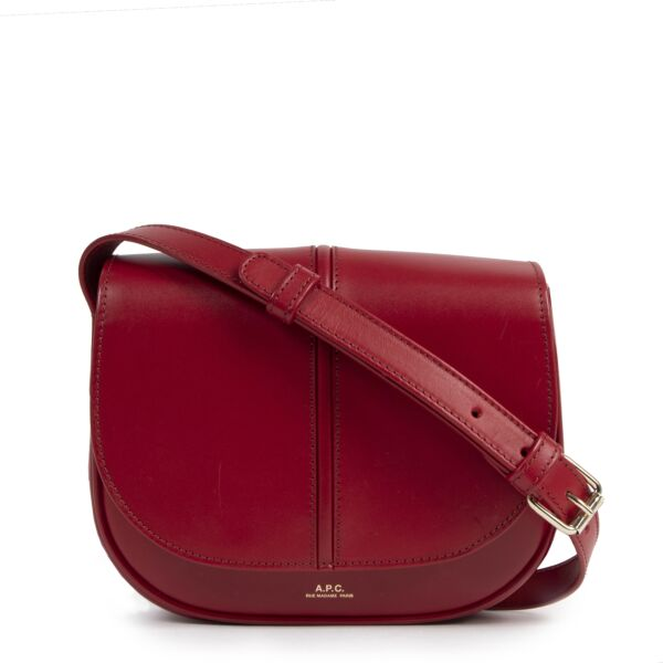 A.P.C. Betty Red Leather Crossbody Bag for the best price at Labellov secondhand luxury