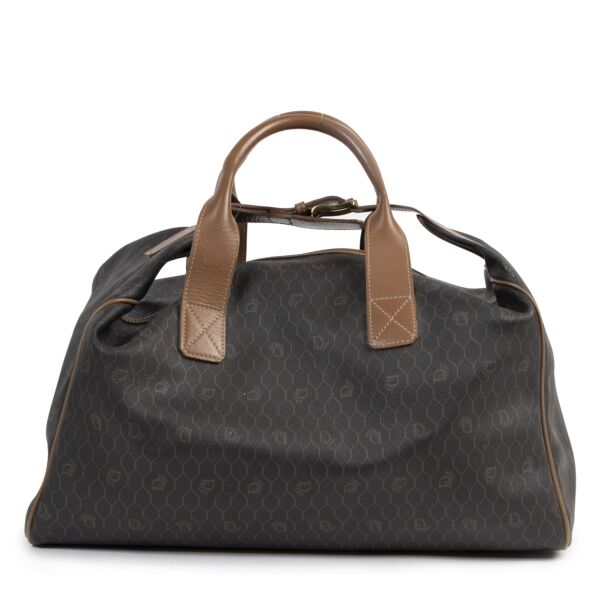 Authentic second-hand vintage Dior Grey Honeycomb Travel Bag buy online webshop LabelLOV
