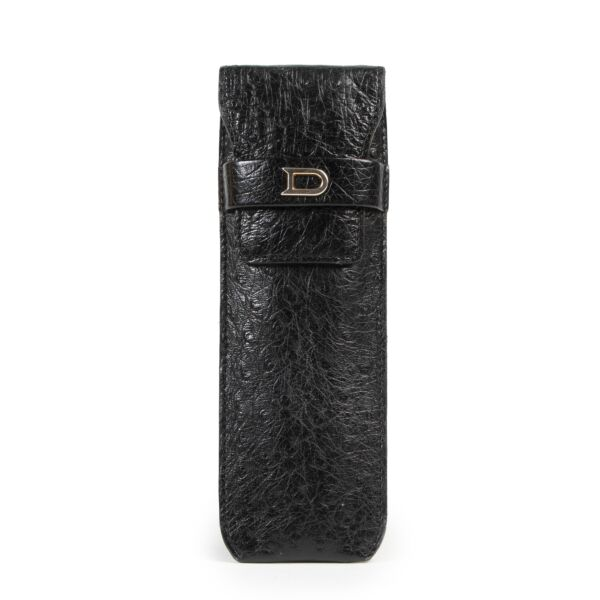 Delvaux Black Ostrich Pen Holder for the best price at Labellov secondhand luxury