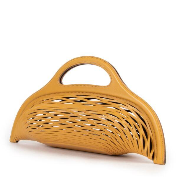 Delvaux Black & Yellow Kaisin Basket Bag