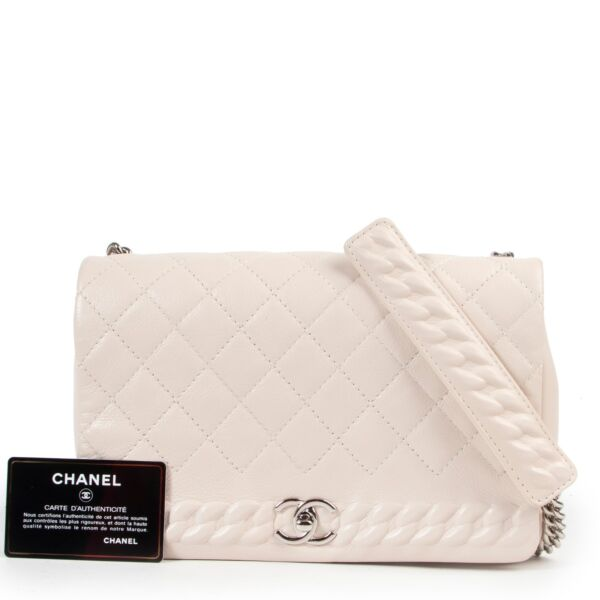 Chanel Cream Crossbody Flap Bag