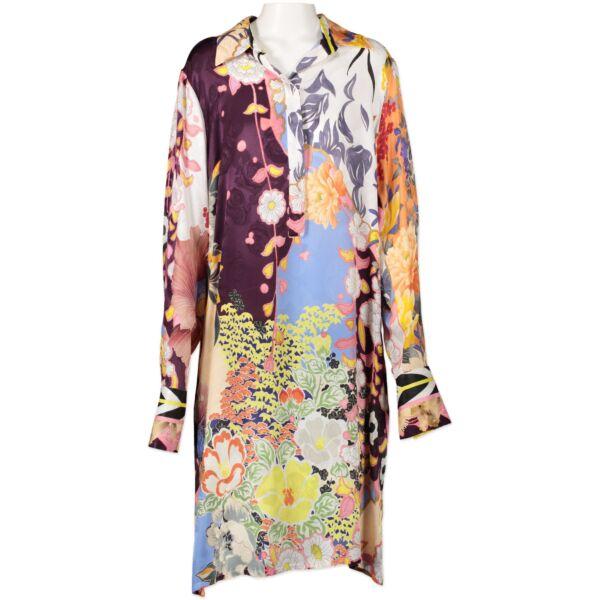 Authentic second-hand vintage Etro Abiti Printed Shirt Dress - Size 46 buy online webshop LabelLOV