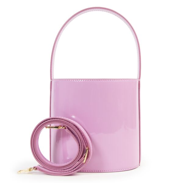 Staud Pink Icing Patent Bisset Bag