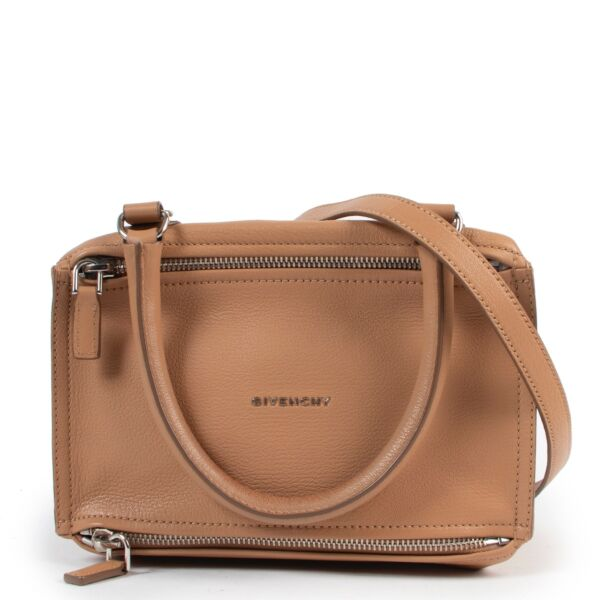 Shop safe online authentic Givenchy Camel Pandora Medium Crossbody Bag