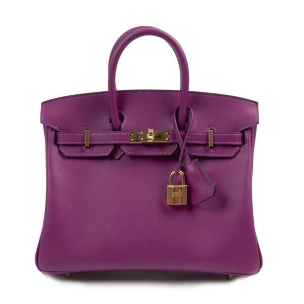 Hermès Birkin 25 Anemone Swift GHW for the best price at labellov secondhand luxury