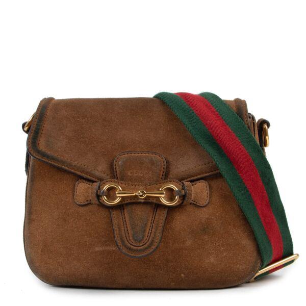 shop safe online secondhand Gucci Suede Lady Web Crossbody