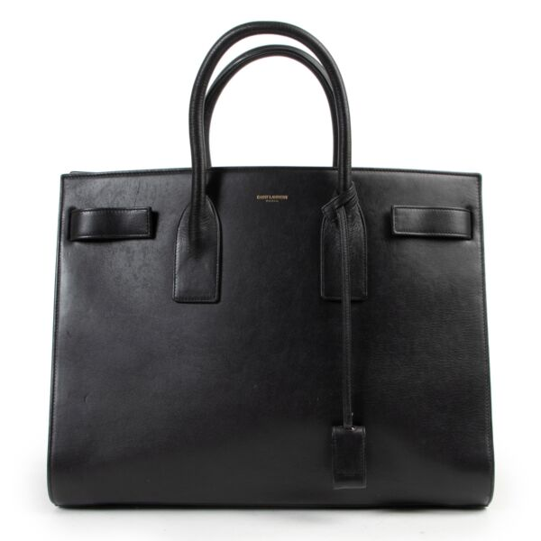 Saint Laurent Black Sac de Jour Medium Top Handle Bag