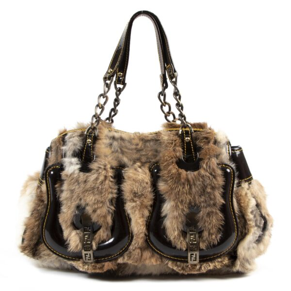 Fendi Fur B Bag for the best price at Labellov secondhand luxury