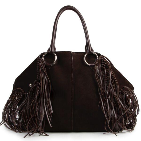 Achetez en ligne en toute sécurité ce Tod's sac à bandoulière en daim brun.
