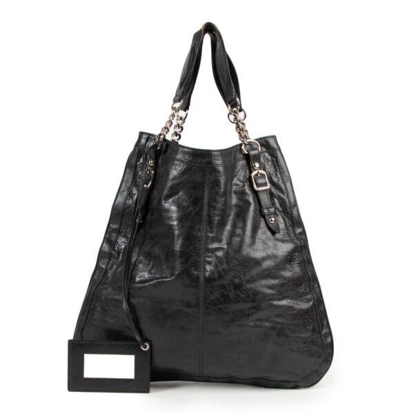 Balenciaga Black Chain Link Shoulder Bag