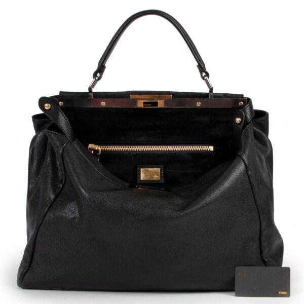 Fendi Black Leather Large Peekaboo