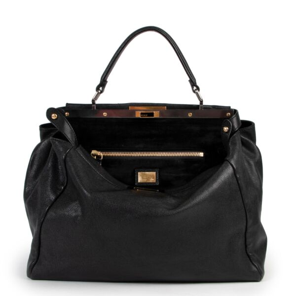 Fendi Black Leather Large Peekaboo for the best price at Labellov secondhand
