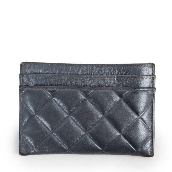 Chanel Grey Cardholder