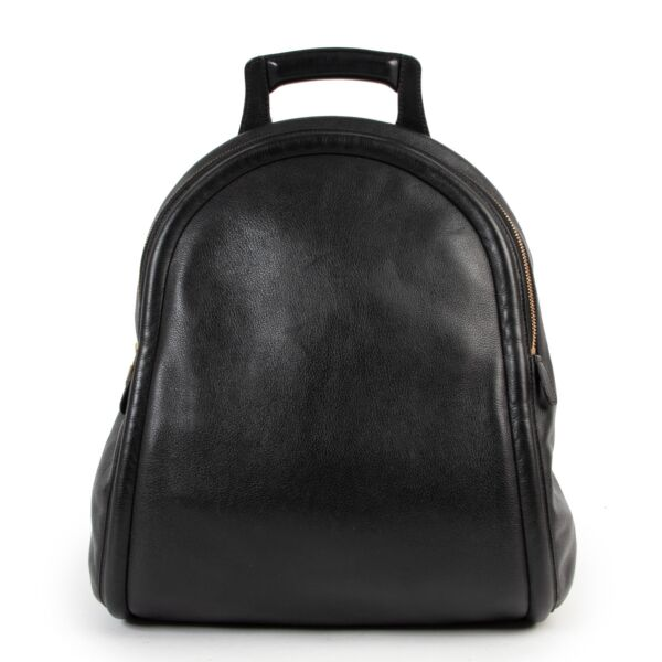 Delvaux Black Leather Backpack