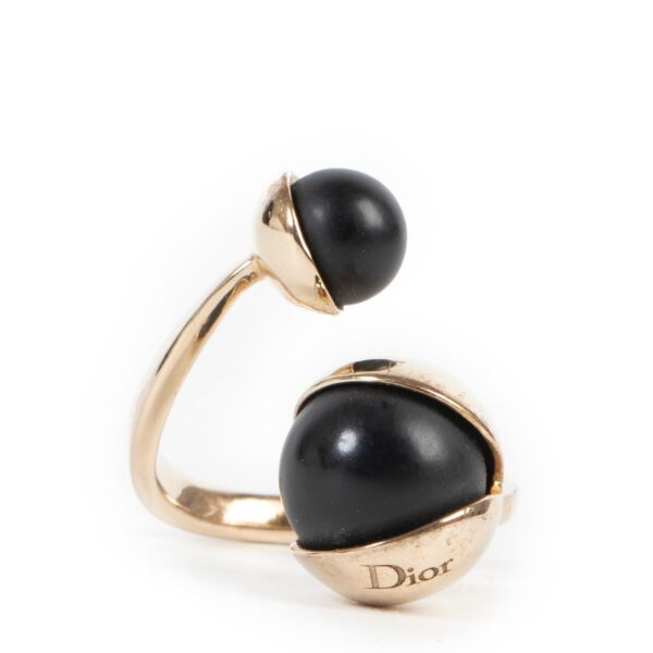 Dior Black Pearls Ring - Size 55