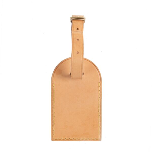 Shop safe online authentic second hand Louis Vuitton Light Brown Leather Luggage Tag