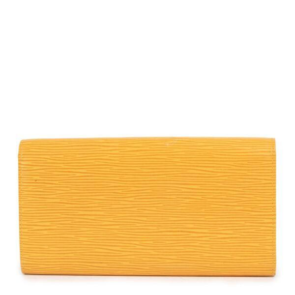 Louis Vuitton Yellow Epi Porte Tresor Wallet