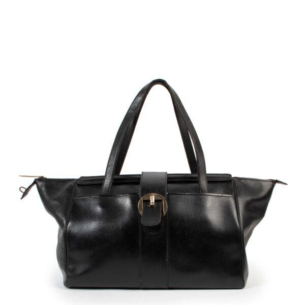 Preloved Delvaux Black Leather Shoulder bag in good original condition
