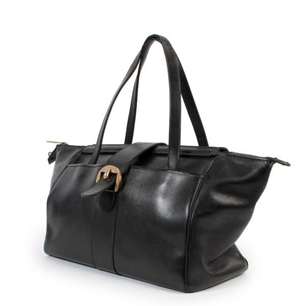 Delvaux Black Leather Shoulder Bag