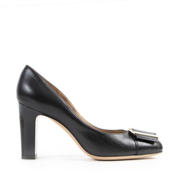 Authentieke Tweedehands Salvatore Ferragamo Black Heels - Size 36,5 juiste prijs veilig online shoppen luxe merken webshop winkelen Antwerpen België mode fashion