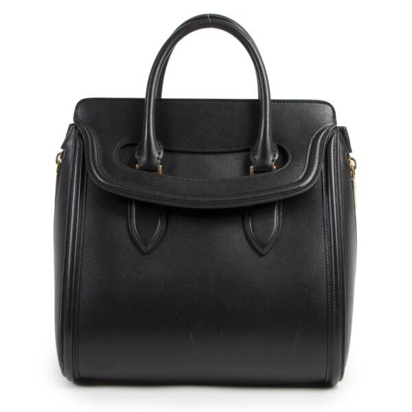 Authentic secondhand Alexander McQueen Black Heroine Tote Bag designer bags fashion luxury vintage webshop safe secure online shopping