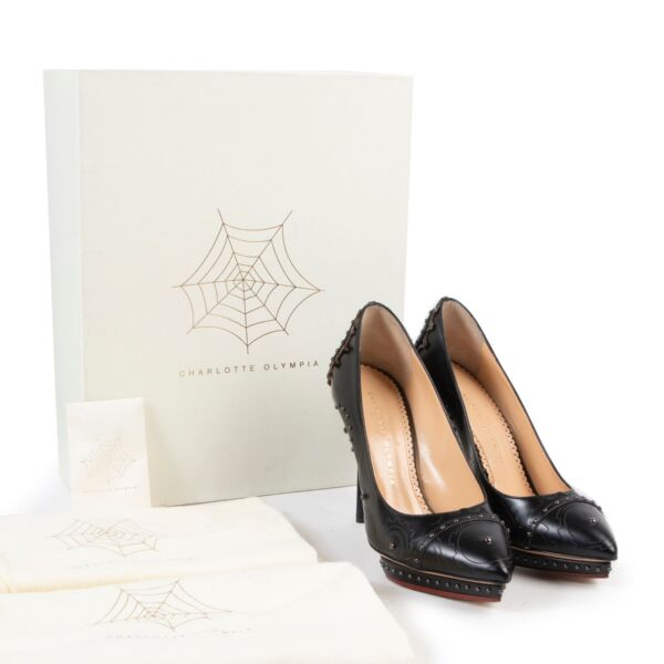 Charlotte Olympia Black Mechanical Debbie Pumps - Size 38