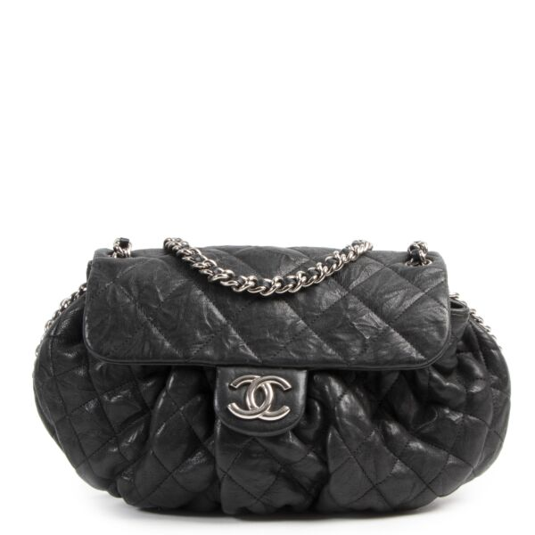 Buy your authentic designer Chanel Black Chain Around Flap Bag for the best price at Labellov secondhand