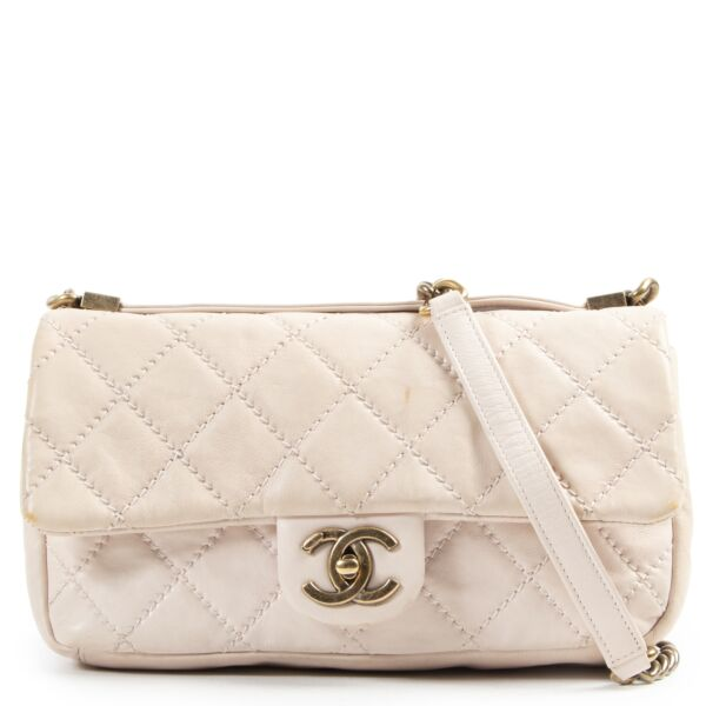 koop online Chanel Dusty Pink Crossbody Flap Bag